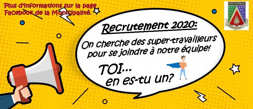 Image titre - Campagne recrutement super-travailleurs (Auteur : DGSTEPH)